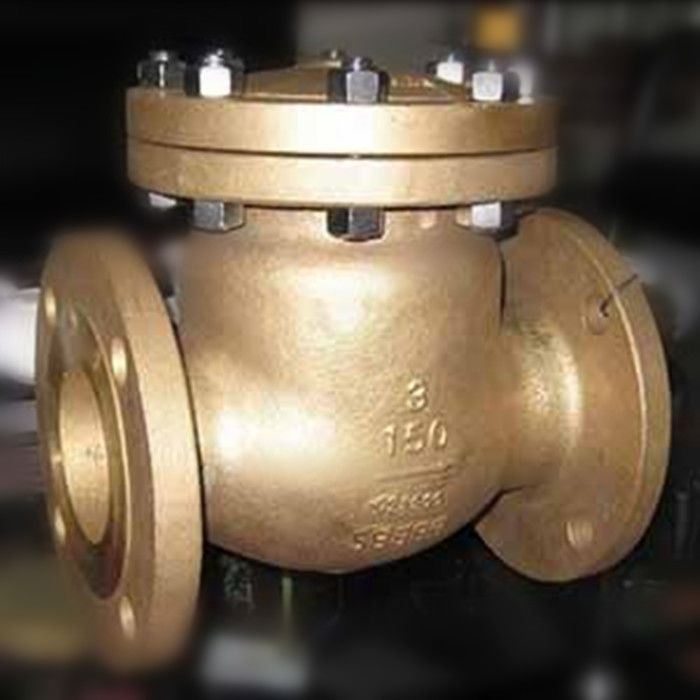 Flap Type Bronze Swing Check Valve , Metal Seated Check Valve Integral Seat RF RTJ BW